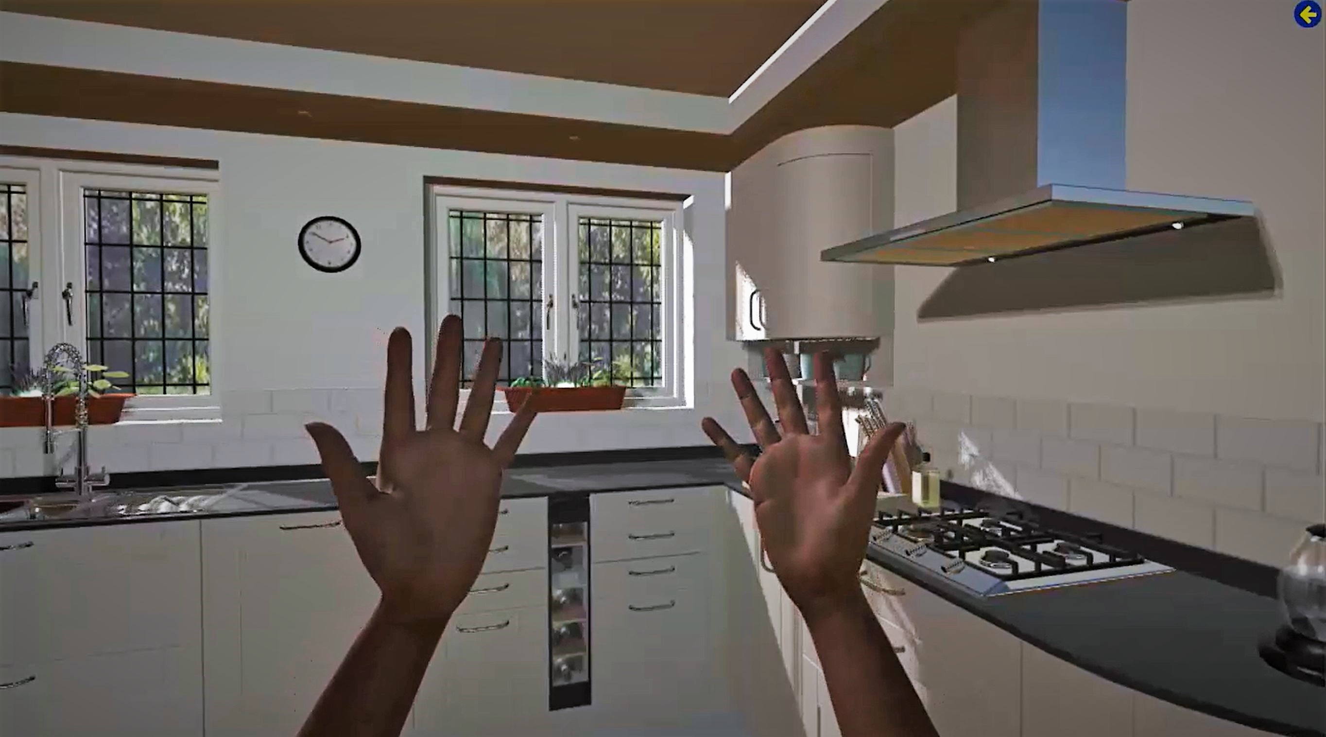 4D Theatre Kitchen With Hands
