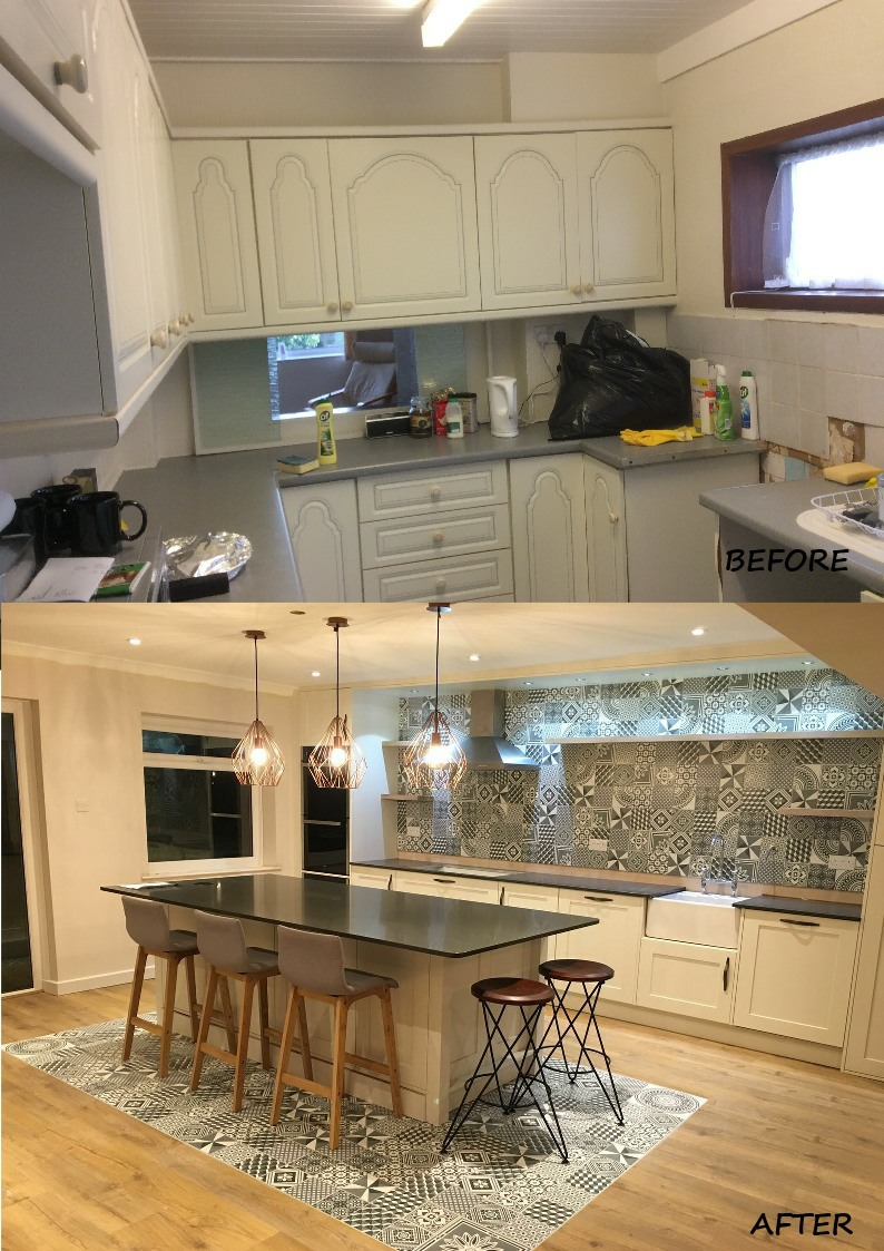 Brooker before and afeter montage kitchen