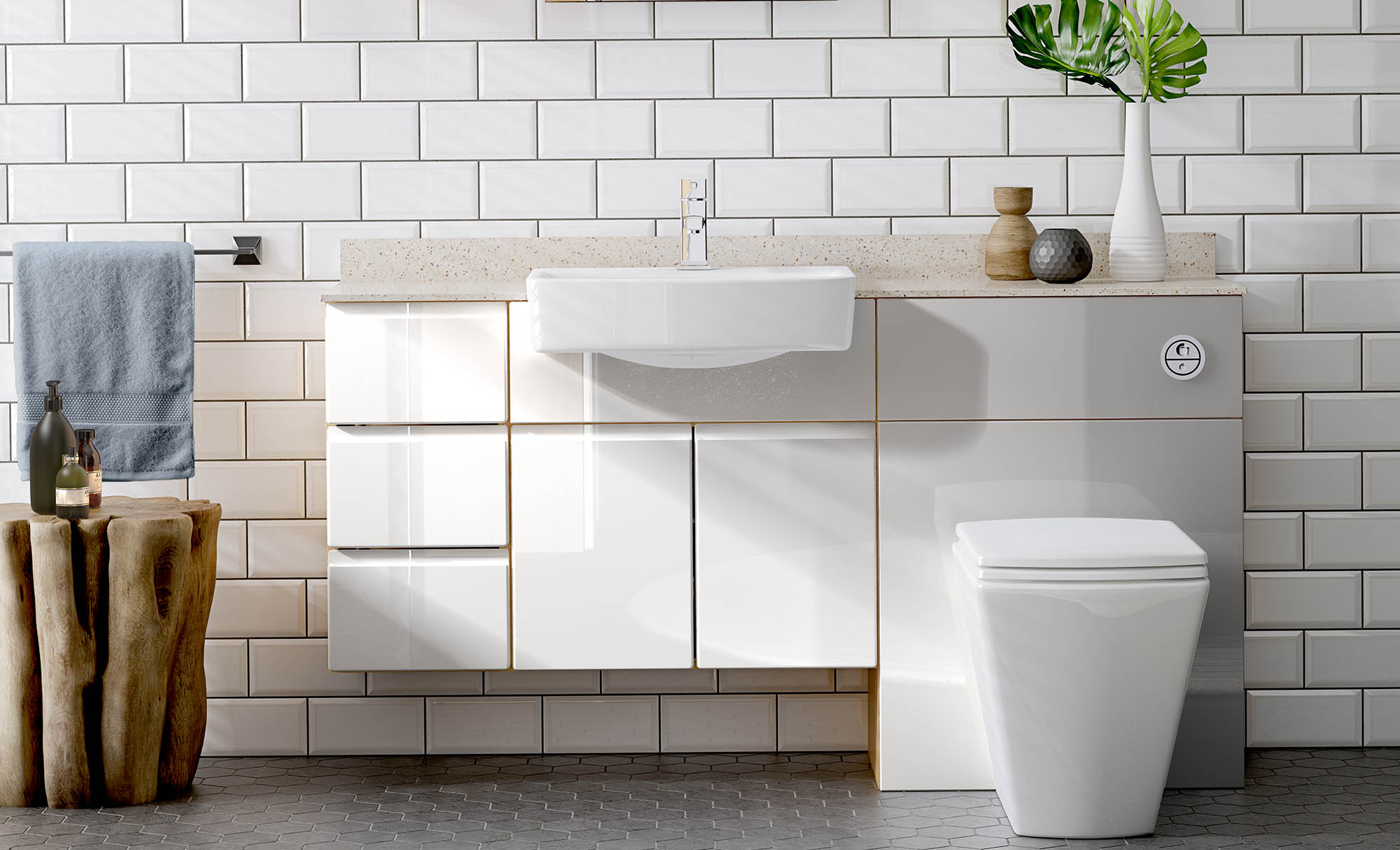 Gaddesby Bathrooms Europe High Gloss White
