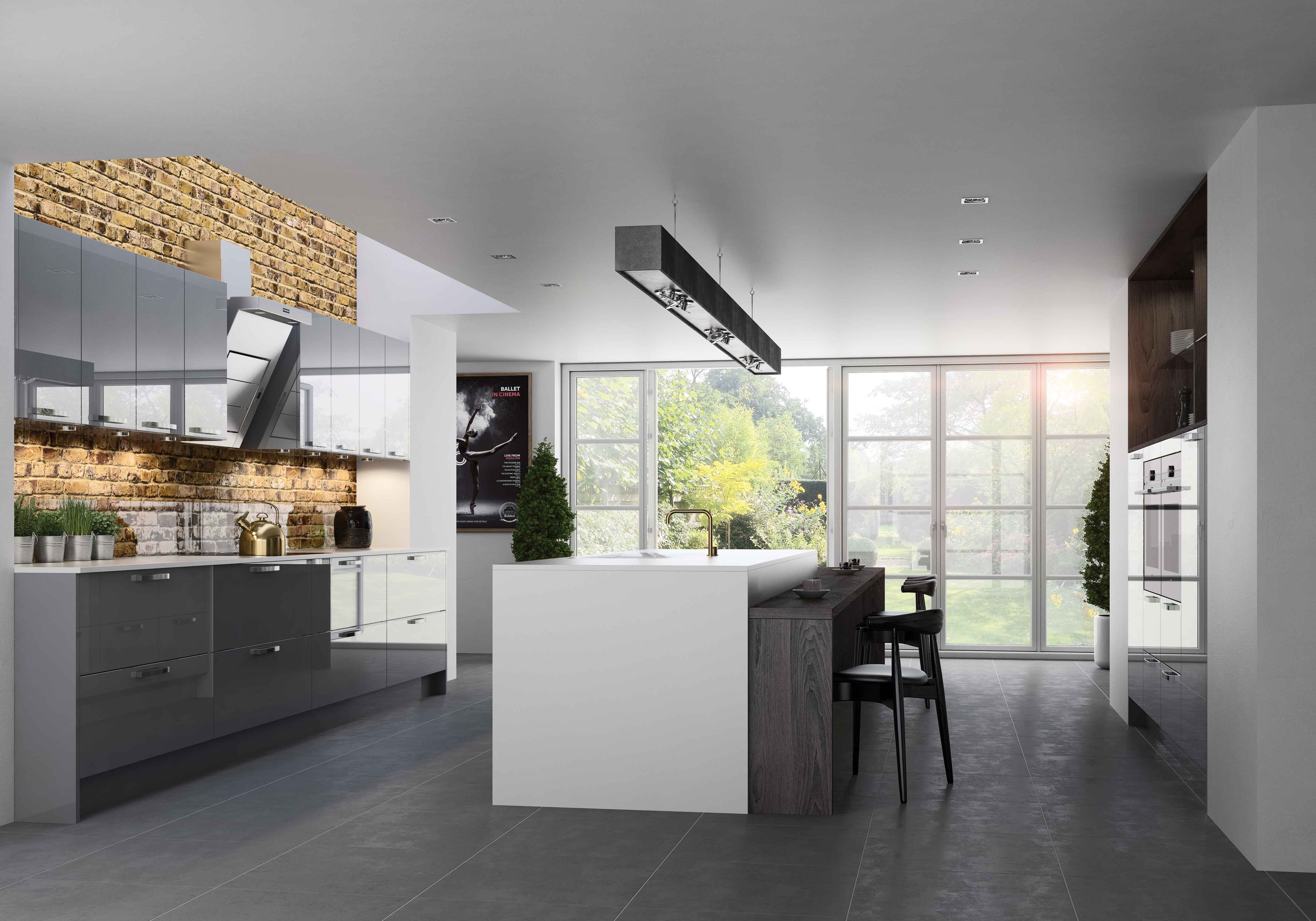 Kitchens GADDESBY Fusion DustGrey Gloss Main