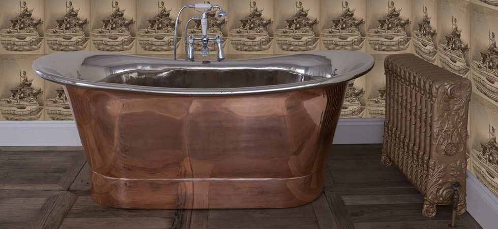 normandy copper bath wih nickel interior 400